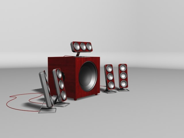 speaker surround 3d model