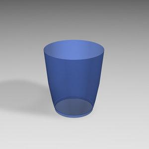 waste paper bin 3d model