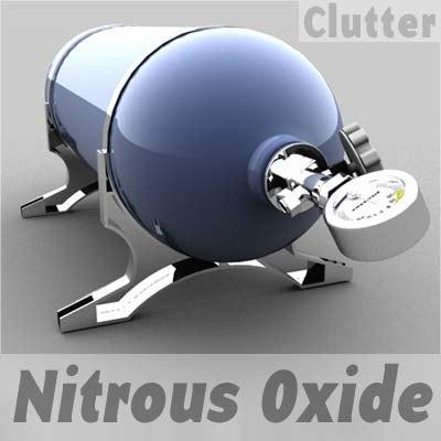 performance nitrous oxide tank 3d model
