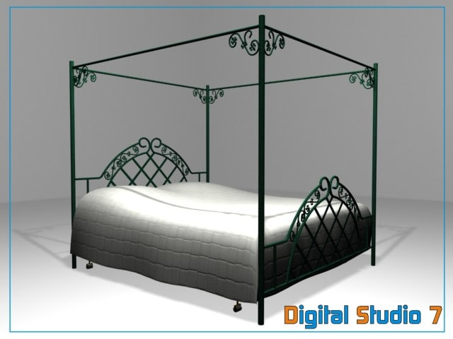 3d model canopy bed