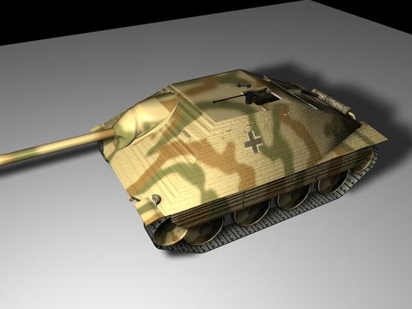 tank ww2 hetzer obj free