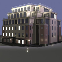 3d model of hotel city
