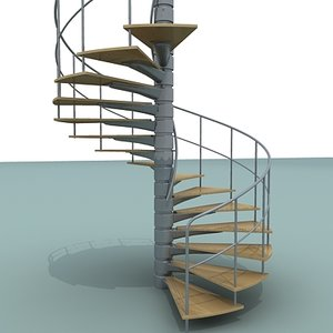 3dsmax spiral staircase