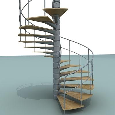 3dsmax spiral staircase