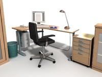 3d model of home office