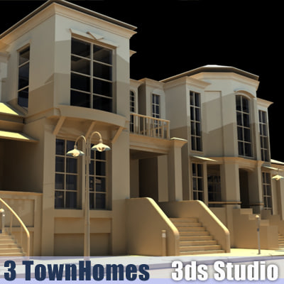 3d 3 town homes join
