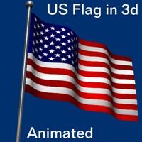 united states flag wave x