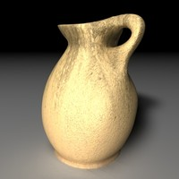 3d model pitcher object