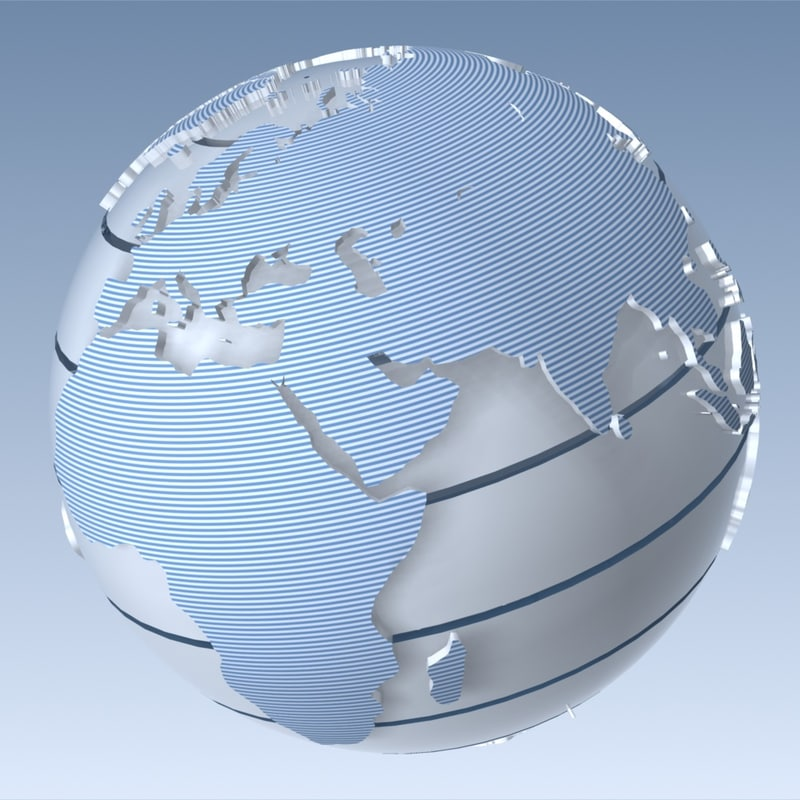 globe modelled space 3d model