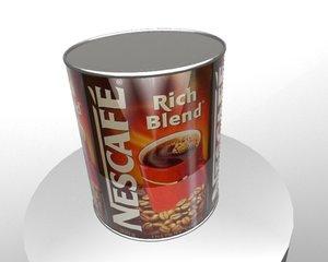 nescafe 3d model