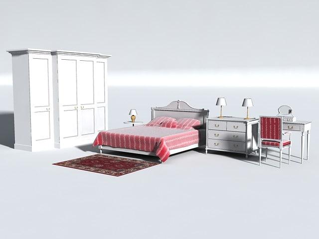 georgian bedroom 3d model