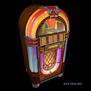 wurlitzer jukebox 3d model