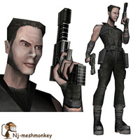 3d ready mongoose mercenary model