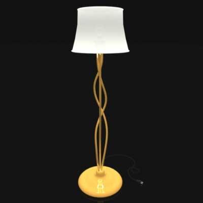 pole lamp 3d model