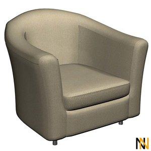 3d armchair fabric