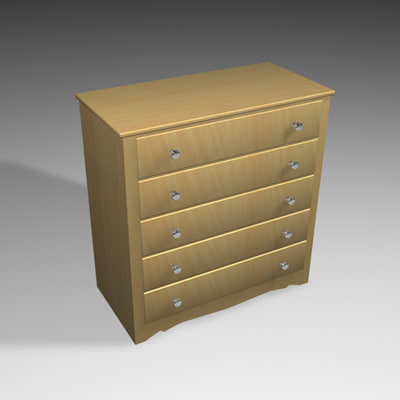 cinema4d chest drawers