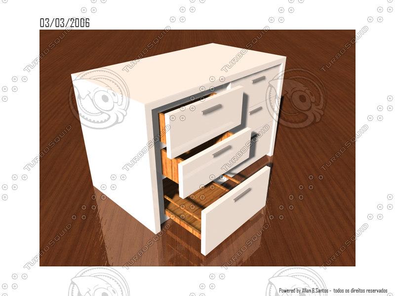 chest drawer c4d
