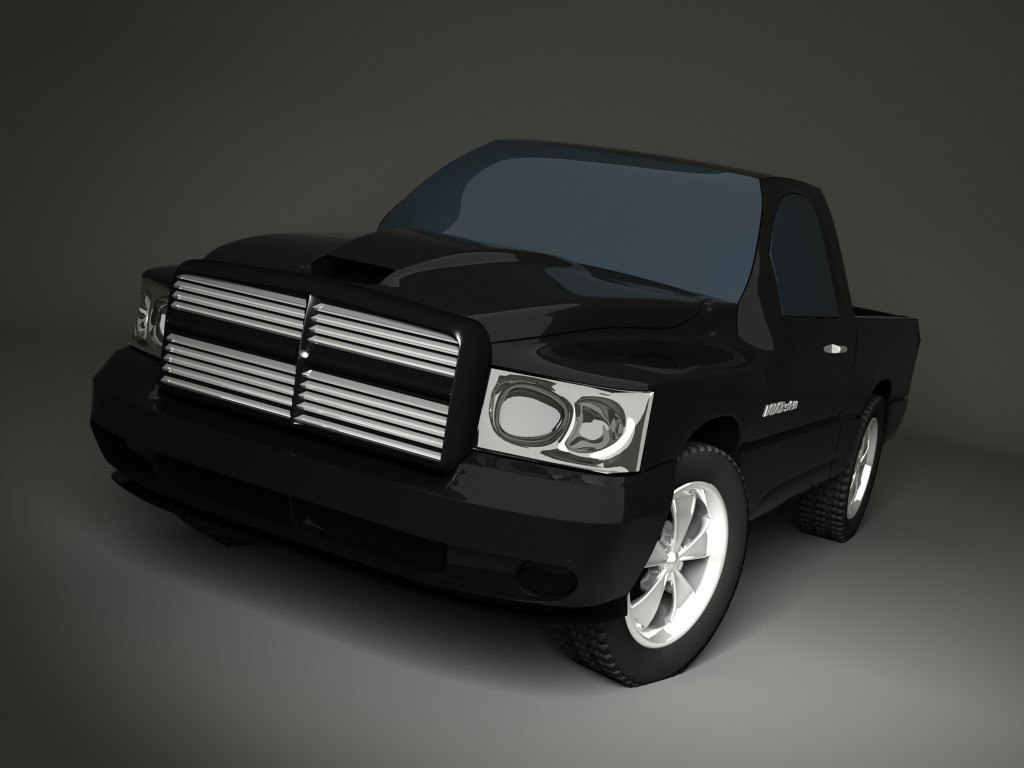 3ds max dodge car