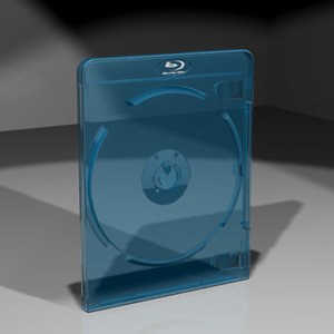 3d model blu-ray disc case