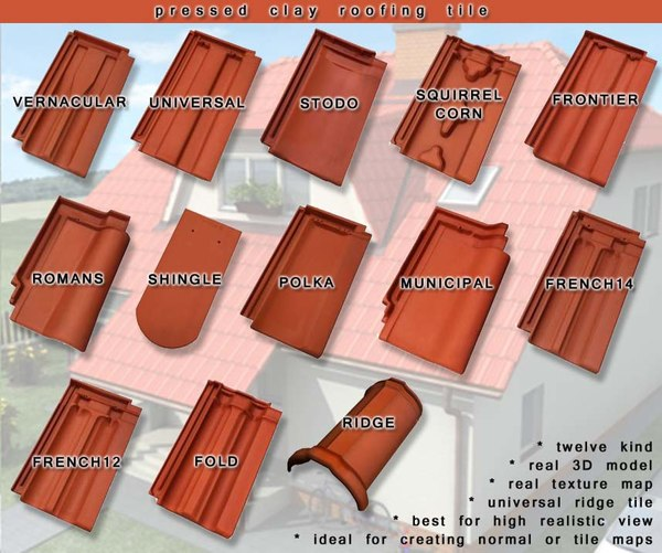 roofing tile 3d model