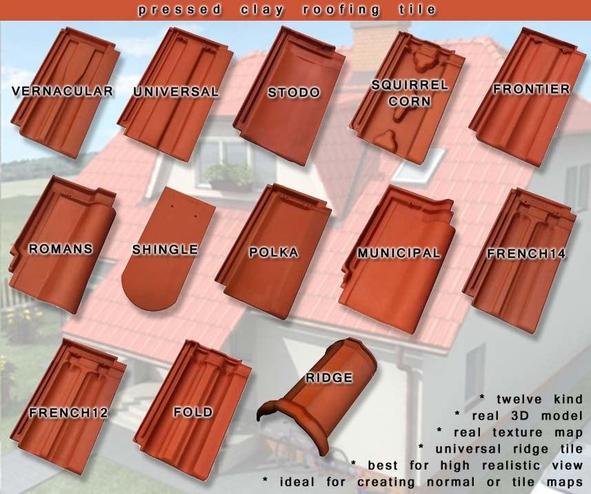 roofing tile 3d model