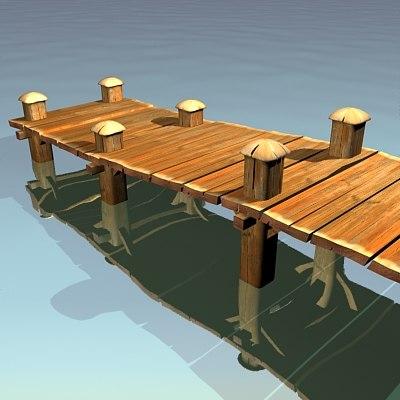 3d landing-stage pier