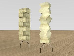 akari lamps 3d model