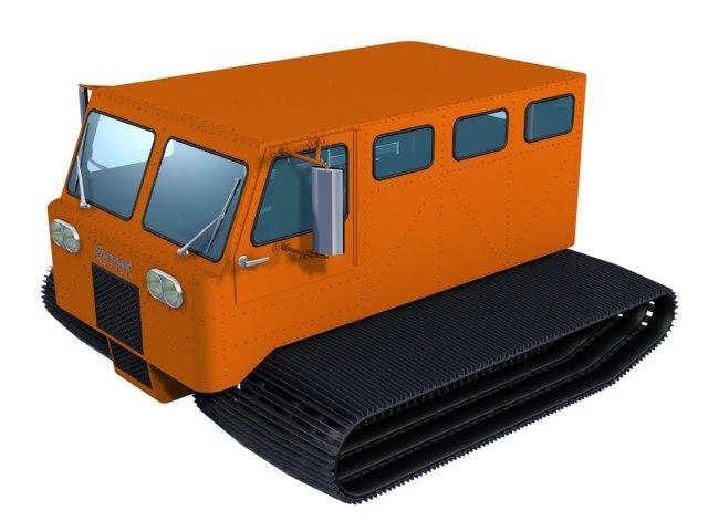 snowcat arctic transport 3d model