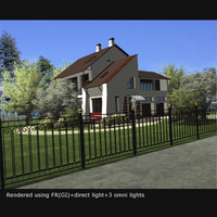 3ds max country house