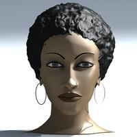 3ds max female human head