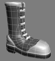 3d model footwear boot
