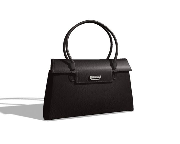 black purse 3d model