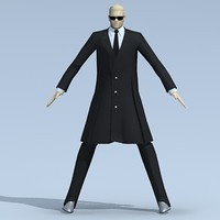 male suited 3d dxf