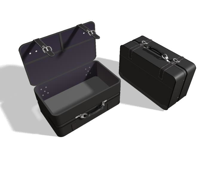suitcase travel 3d max