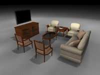 3ds living room