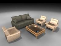 3dsmax living room