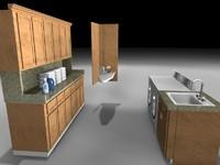 laundry washer dryer 3d model