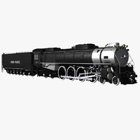 3d steam locomotive fef-4-8-4 train model