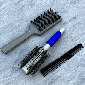 3d model brush comb