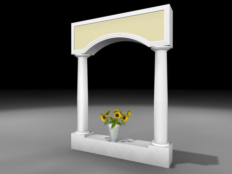 3d column flowers vase