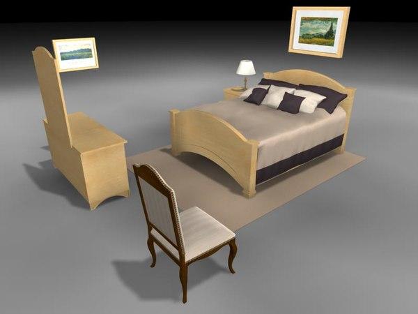 max bedroom bed dresser rug