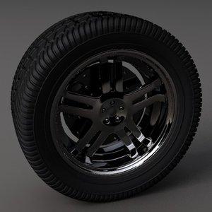 3d mustang wheel