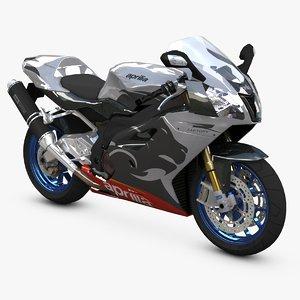 sport bike aprilia 3d model