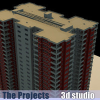 3ds max rent apartment building projects
