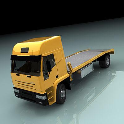 truck flatbed 3d model