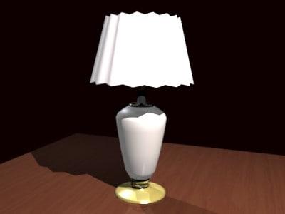 3d obj table lamp
