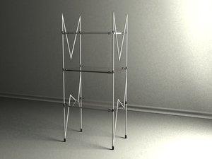 3ds max glass shelves