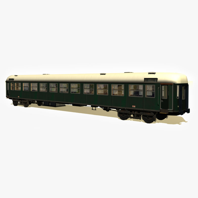 3d model of train vagon
