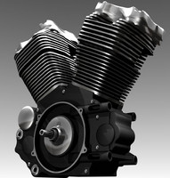 harley davidson twincam88b engine 3d model