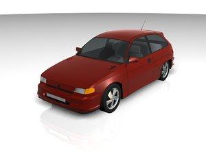 astra car 3d model